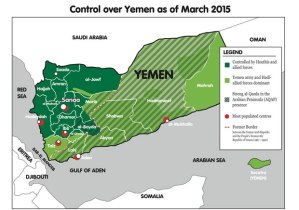 The Houthis now control most of the more densely populated North