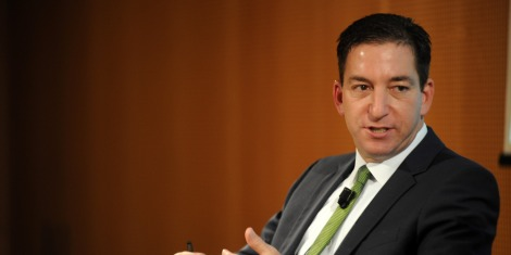 MILAN, ITALY - MAY 26:  Glenn Greenwald  speaks during the presentation of his book 'No Place to Hide: Edward Snowden, The NSA, And The U.S. Surveillance State' on May 26, 2014 in Milan, Italy. Greenwald published National Security Agency contractor Edward Snowden's leaks of secret U.S. government information as a columnist for The Guardian US. A former constitutional lawyer who had frequently written about civil liberties, Greenwald wrote ''No Place to Hide: Edward Snowden, the NSA, and the U.S. Surveillance State'' about his pursuit of the Snowden story and the fallout from the information he provided.  (Photo by Pier Marco Tacca/Getty Images)